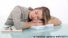 Businesswoman sleeping at work © auremar #47175777