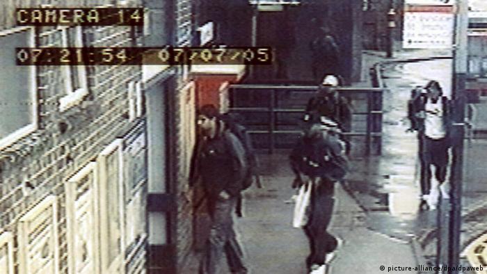 Mutmaßliche Attentäter von London Bilder einer Überwachungskamera