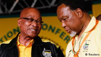 Jacob Zuma and Kgalema Motlanthe Foto: REUTERS/Mike Hutchings