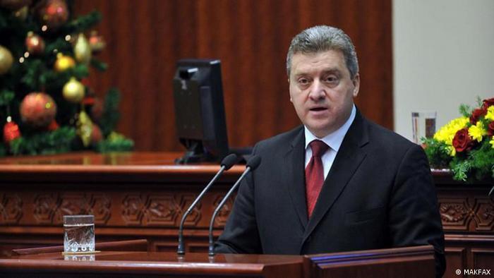 Gorge Ivanov Präsident Mazedonien (MAKFAX)