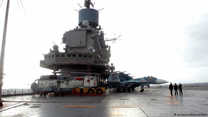 Російський авіаносець у порту Тартуса