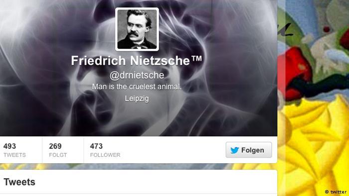 Screenshot of @drnietsche Twitter account
