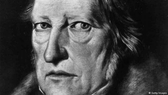 A black-and-white portrait of Georg Wilhelm Friedrich Hegel