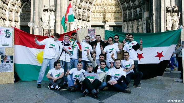 Syrian students at the Cologne Cathedral Photo: Michael Maurer