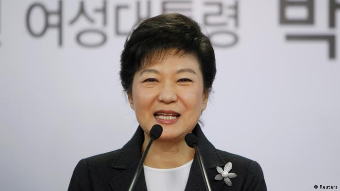South Korea's conservative President-elect Park Geun-hye speaks during a news conference at the main office of ruling Saenuri Party in Seoul December 20, 2012.