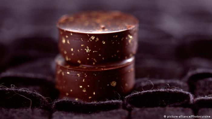 Schokolade Gold Blattgold