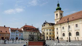 Ansicht von Sibiu/Hermannstadt in Rumänien (Foto: dpa)