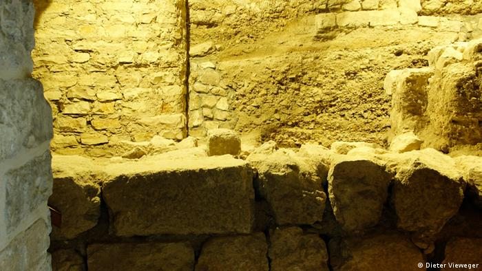 Old stone walls found beneath the church