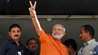 Gujarat Chief Minister Narendra Modi (Photo:Ajit Solanki/AP/dapd)