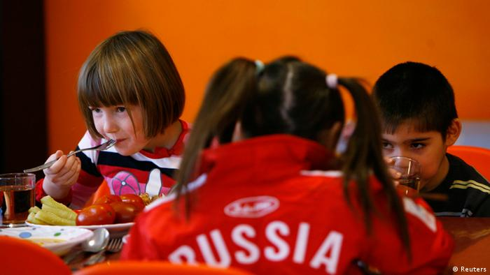 Children in a Russian daycare