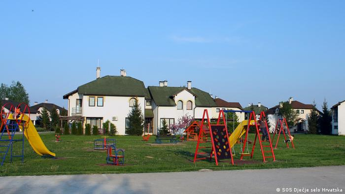 Small homes belonging to the SOS Children's Village in Croatia