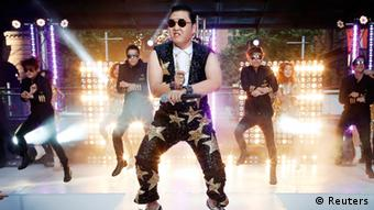 Psy performing Gangnam Style