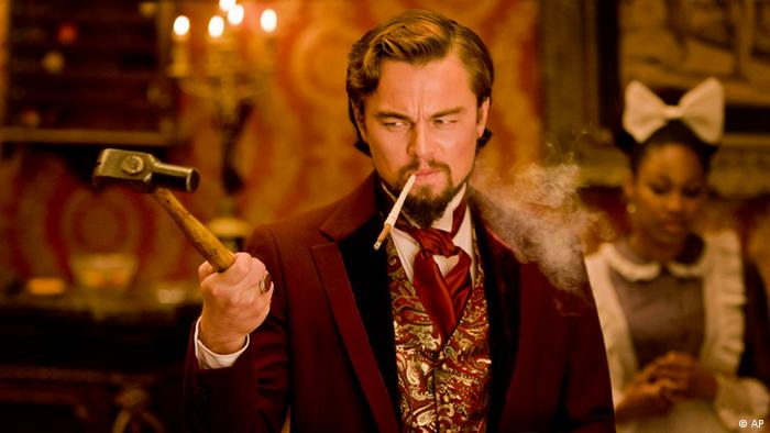 Leonardo DiCaprio as Calvin Candle in Django Unchained, directed by Quentin Tarantino (Photo:The Weinstein Company, Andrew Cooper, SMPSP, File/AP/dapd)