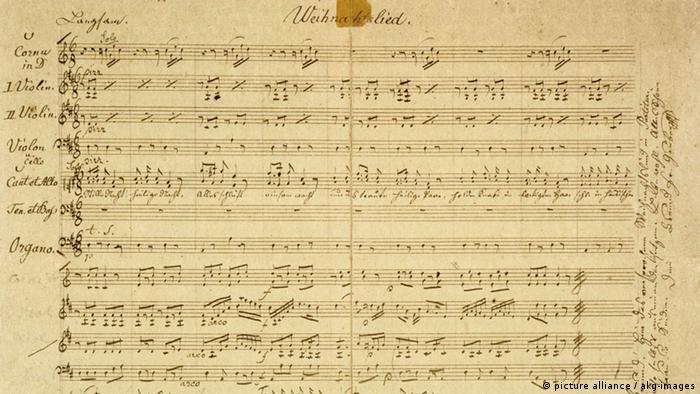 Stille Nacht Josef Mohr Franz Xaver Gruber