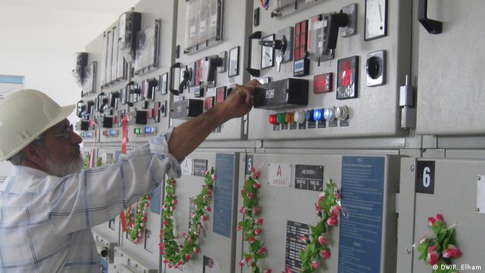 یک مرکز توزیع برق در سمنگان