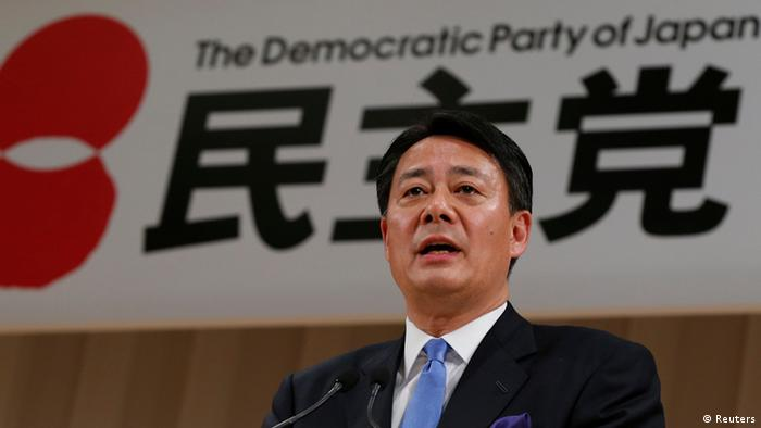 New leader of the Democratic Party of Japan (DPJ) and former trade minister Banri Kaieda speaks during a news conference after he is elected leader of the DPJ at the DPJ leadership election in Tokyo December 25, 2012.