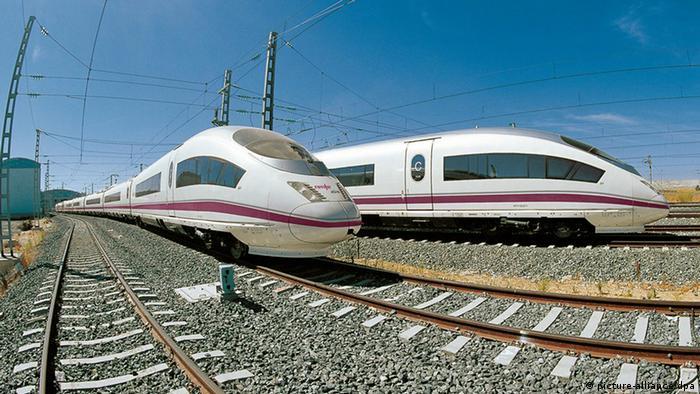 Скоростные испанские поезда AVE S-100