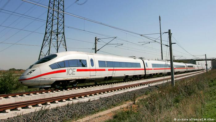 High-speed train in Germany
