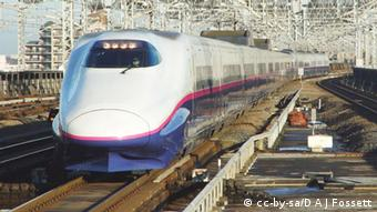 E2 series shinkansen set J7 heads the southbound Yamabiko 152 service into Omiya