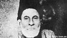 A b/w photograph of Mirza Ghalib Source = sourced from http://www.indiaparenting.com/stories/pics/mirza.jpg Permission = Public Domain as the person photographed has expired in 1869. http://de.wikipedia.org/w/index.php?title=Datei:Mirza_Ghalib_photograph.jpg&filetimestamp=20051011060400