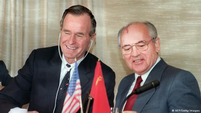 George Bush Senior und Michail Gorbatschow (AFP/Getty Images)