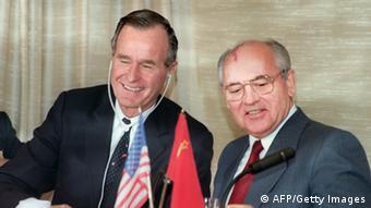 Буш-старший и Горбачев, 3 декабря 1989 года