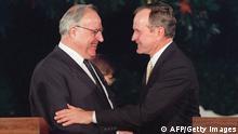 George Bush Senior und Helmut Kohl
