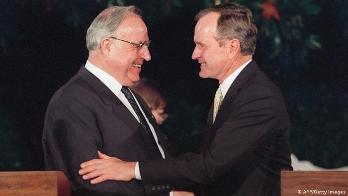 George H.W. Bush and Helmut Kohl (AFP/Getty Images)