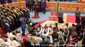 Gabun Libreville Senat Senatspräsidentin Rose Francine Rogombe