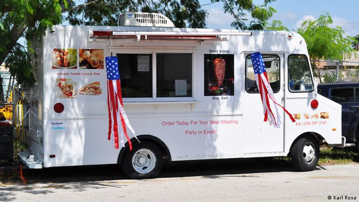 Karl Rosa's döner truck in Fort Meyers, Florida