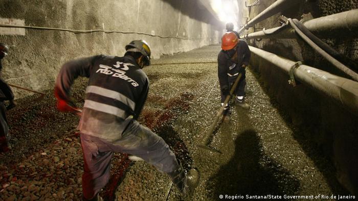 Buddeln für die U-Bahn: Rio arbeitet an einer Erweiterung des Metro-Netzes (Foto: Rogério Santana)