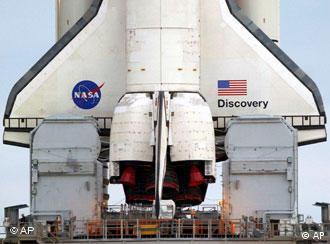 مكوك الفضاء ديسكوفري يستعد للانطلاق