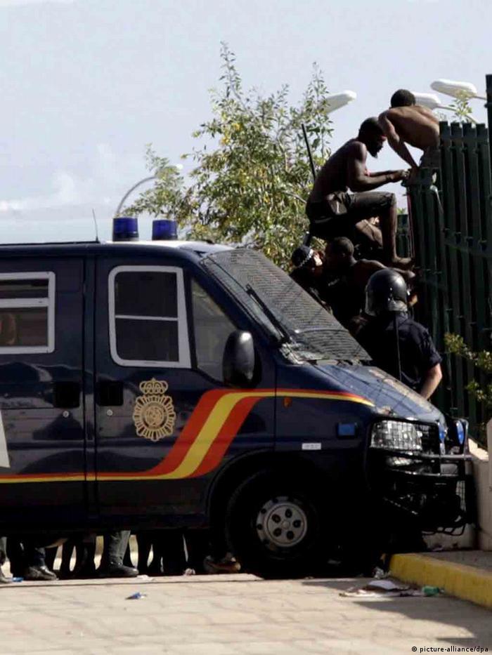 Spanien Afrikanische Flüchtlinge