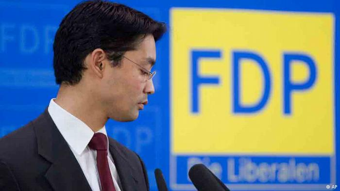 FDP chairman Philipp Roesler at a press conference in Berlin, (Photo from 19.09.11) Photo: Gero Breloer/AP/dapd