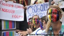 Ukraine Demonstration gegen Zensur und für Meinungsfreiheit in Kiew
