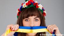 Ukraine Symbolbild gegen Zensur und für Meinungsfreiheit