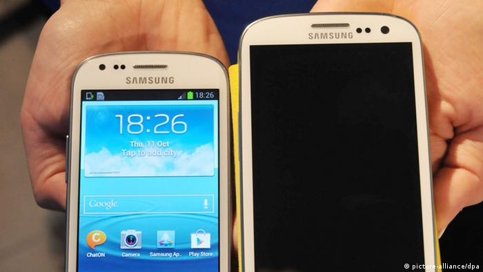 A Samsung Smartphone Galaxy S3 Mini (Photo via dpa)