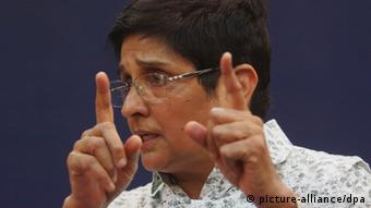 Former Indian police chief and social activist Kiran Bedi (Photo: EPA/ANINDITO MUKHERJEE)