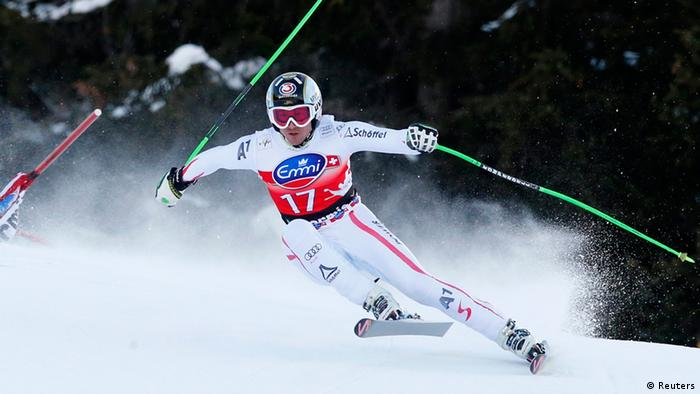 Hannes Reichelt of Austria joint winner of the men's downhill with Dominik Paris. (Photo: REUTERS/Stefano Rellandini)
