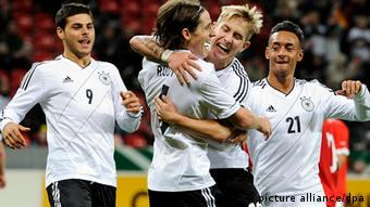 Lewis Holtby with the German U-21s