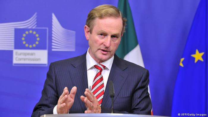 Irish Prime Minister Enda Kenny speaks during a press conference with European Commission President following their working session on October 3, 2012 at the EU Headquarters in Brussels.