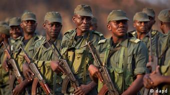 Kongolesische FOMAC-Soldaten in Bangui (Foto:Ben Curtis/AP/dapd)