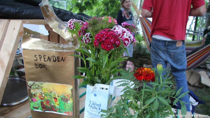 The alternative urban garden project Annelinde