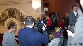 Mazedonien Zwischenfall im Parlament von Skopje