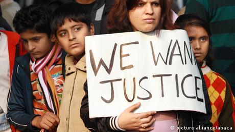 Protest Neu Delhi Indien Vergewaltigung