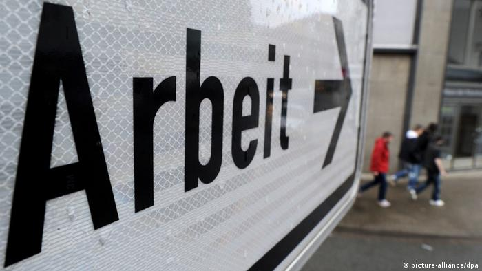 Sign reading arbeit, German for labor, work