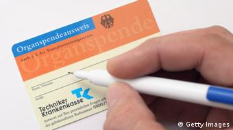 Organspende-Ausweis (Foto: Getty Images)