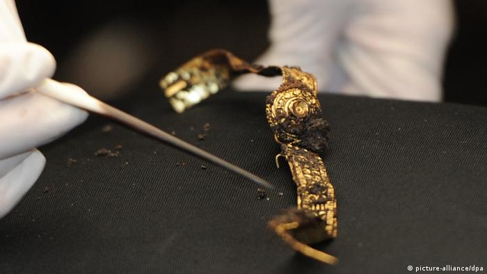 Earring discovered at the Celtic excavation area at the Heuneburg