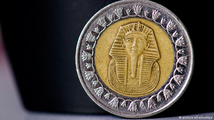 An Egyptian pound coin Copyright: Arno Burgi/lsn