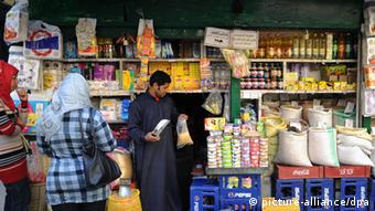 Small groceries shop in a Cairo city district